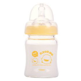 黃色小鴨 玻璃奶瓶系列-寬口徑葫蘆奶瓶120cc