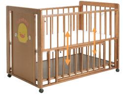 黃色小鴨 櫸木嬰兒床