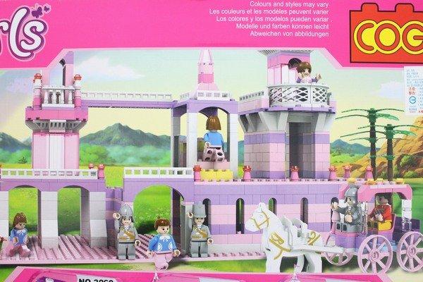 COGO積木 3261 童話公主系列-公主駕臨城堡 益智積木 約605片/一盒入{促1200}~可與樂高混拼裝~CF117770~