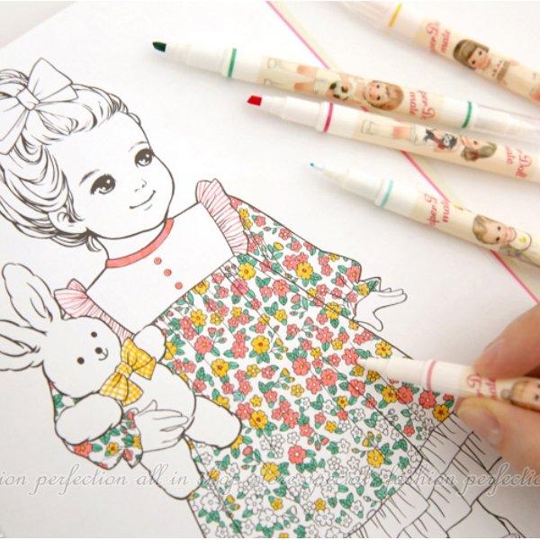 塗色塗鴉本-Alice 填色本手繪 奇幻夢境 祕密花園 魔法森林 繪畫 描繪本 塗鴉 舒壓【DG372】◎123便利屋◎