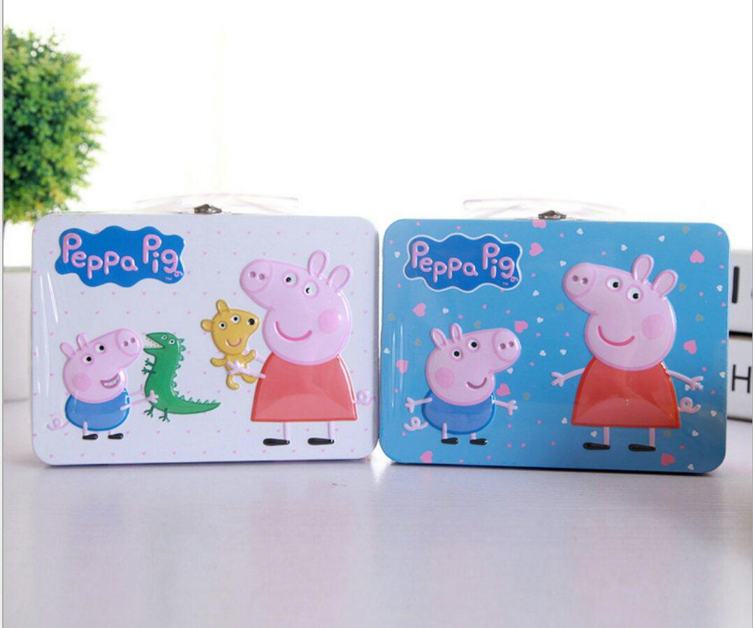 有樂町進口食品 小豬豬鐵盒曲奇餅乾(白色款/藍色款) 120g 4897058471526