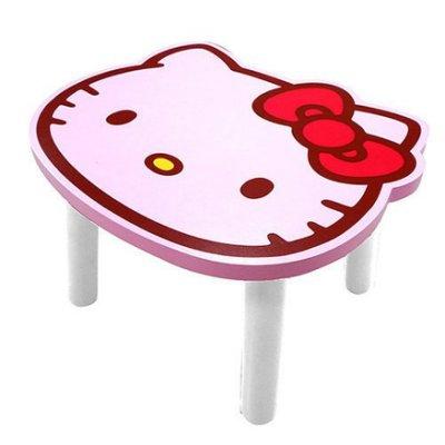 【真愛日本】9080500002 頭型小木椅-粉紅 KITTY 凱蒂貓 三麗鷗 小椅子 椅子 生活用品
