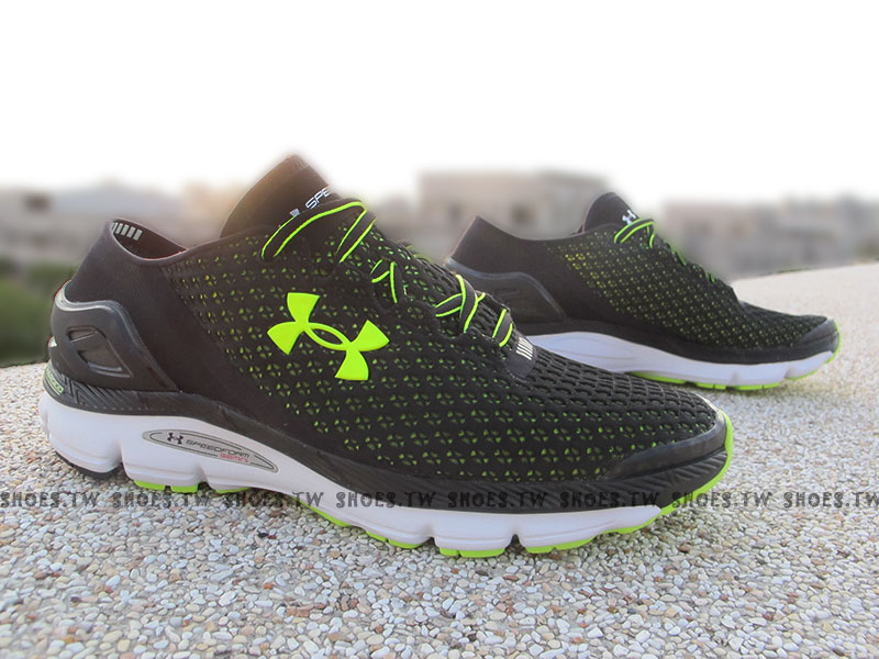 《出清6折》[28cm] Shoestw【1255821-002】UNDER ARMOUR UA 慢跑鞋 Speedform Gemini 黑螢黃