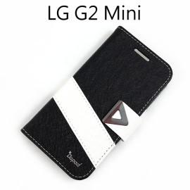 【Dapad】星光紋雙色支架皮套 [黑+白] LG D620k G2 mini