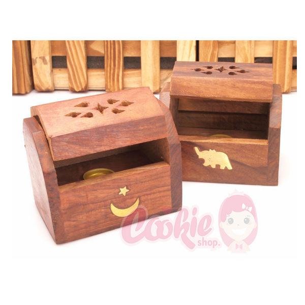 印度香盒 (塔香)香盒 香具 手工藝鏤空 芒果木線香臥式木香【庫奇小舖】不挑款