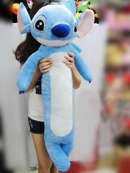 =優生活=迪士尼星際寶貝史迪奇圓柱抱枕長條毛絨玩具送女友生日禮物 100公分大娃娃