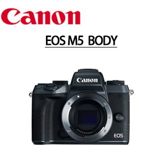 ★分期零利率★ CANON EOS M5 單機身 微單眼數位相機 彩虹公司貨 (至12/31止首購送SANDISK 90M/B SD高速卡+原廠電池一顆)