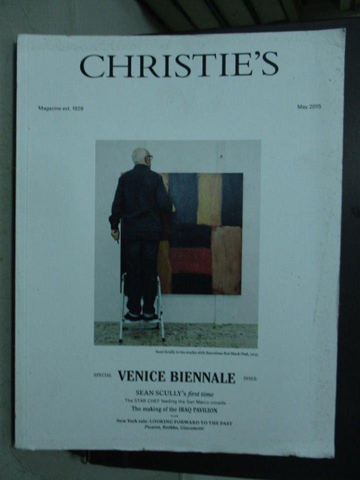 【書寶二手書T3/收藏_WGR】Christie's_2015/5_Venice Biennale