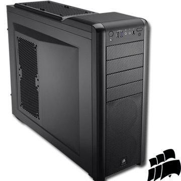 *╯新風尚潮流╭*CORSAIR 海盜船 USB3.0 硬質合金 8個背板擴充槽 全黑化電腦機殼 400R