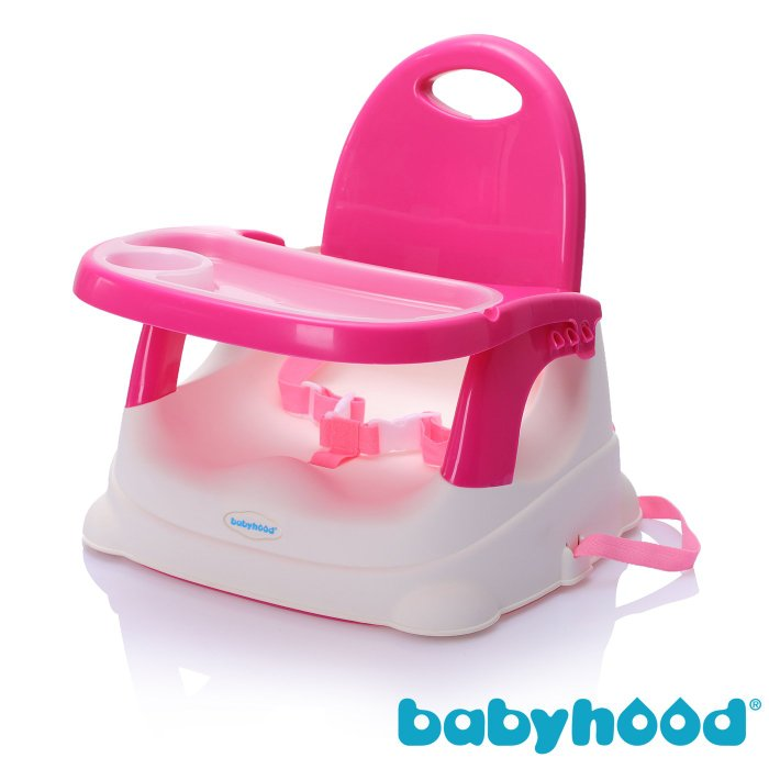 『121婦嬰用品館』傳佳知寶 babyhood 咕咕餐椅-玫紅 (附透明餐盤)