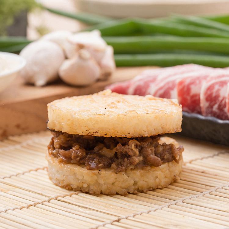 全牛肉米漢堡。超人氣美食《米漢堡》【尚介香】