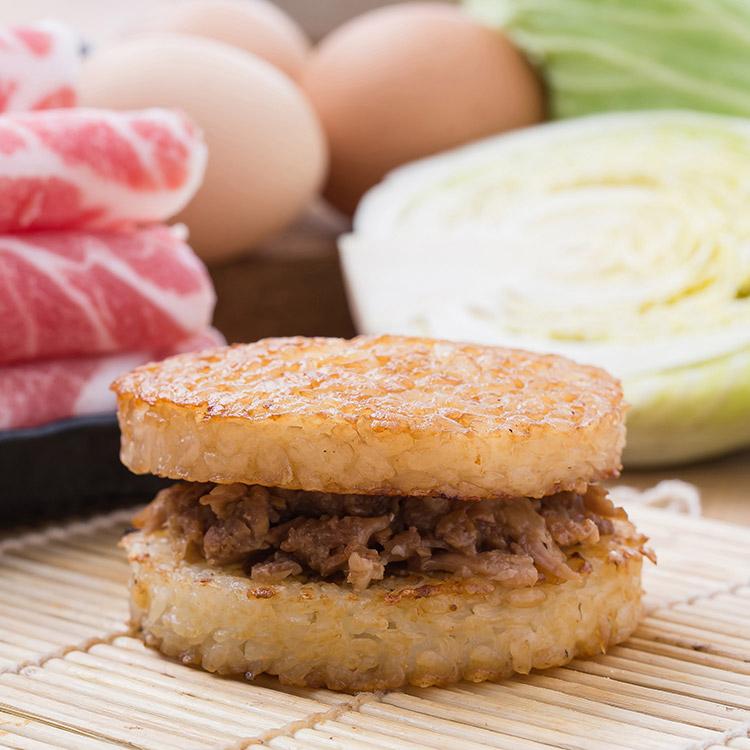 和風豬肉米漢堡。超人氣美食《米漢堡》【尚介香】