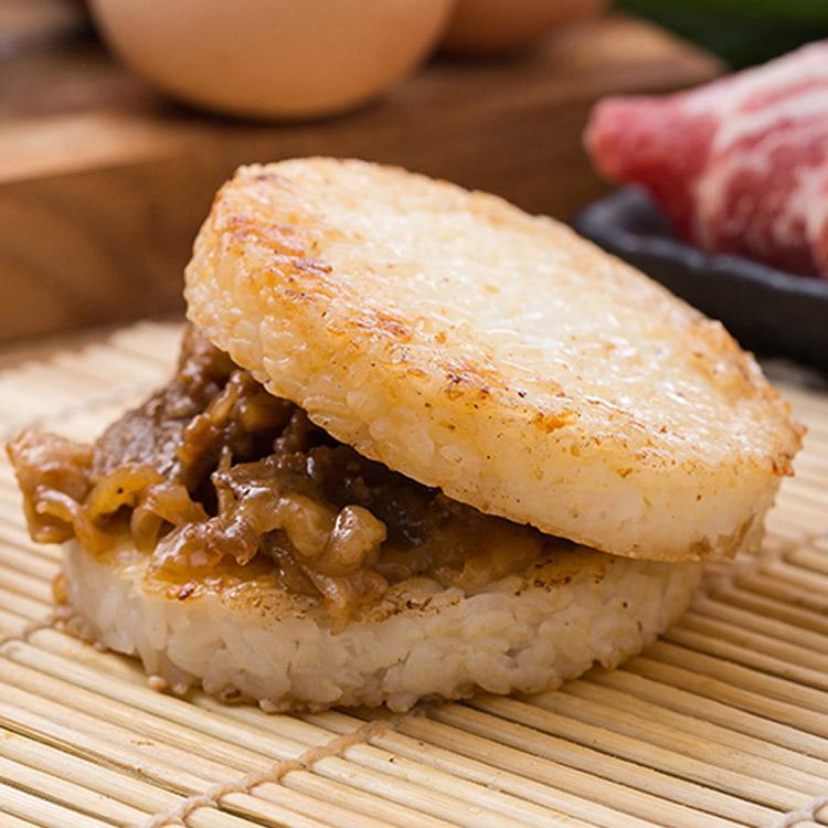 日式牛丼米漢堡。超人氣美食《米漢堡》【尚介香】
