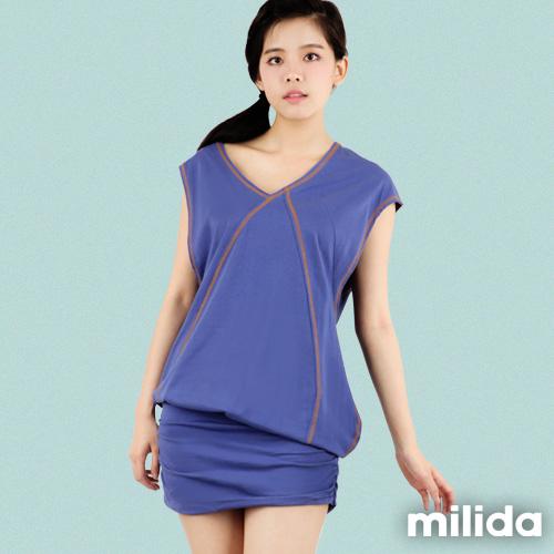 【Milida,全店七折免運】-早春商品-連衣裙-造形肩袖設計