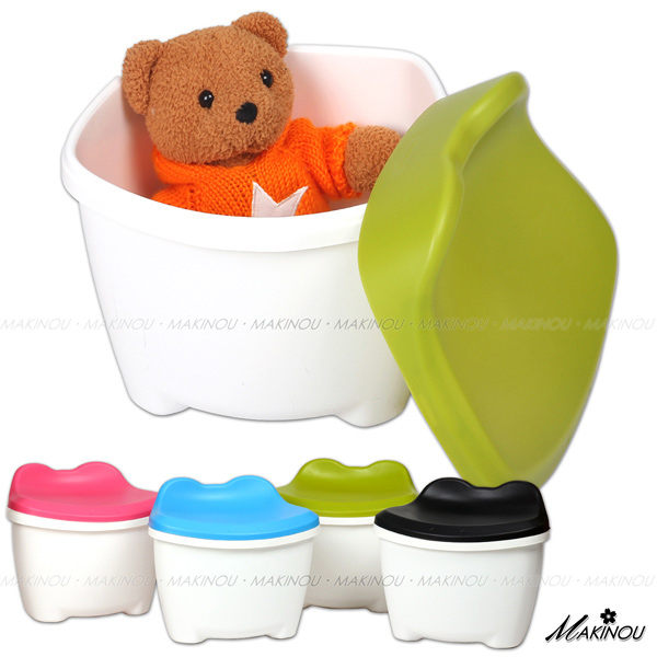 收納凳|日本MAKINOU-兒童塑膠收納凳-青蛙-台灣製|塑膠收納箱 置物箱