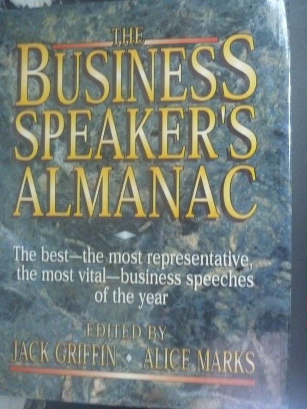 【書寶二手書T6/財經企管_WFM】The business speaker's almanac