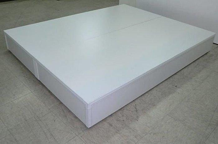 【尚品傢俱】☆特別優惠☆ 637-04 白色5尺床底箱(3分)~另有3.5尺、6尺床底箱~六色可選,可做木心板