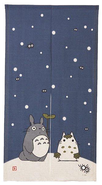【真愛日本】13090900025 日本製四季門簾冬-雪人龍貓   龍貓 TOTORO 豆豆龍 居家用品 中門簾 日本帶回