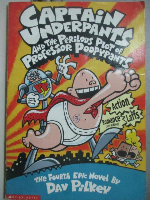 【書寶二手書T1/原文小說_JCZ】CAPTAIN UNDERPANTS 4_Dav Pilkey