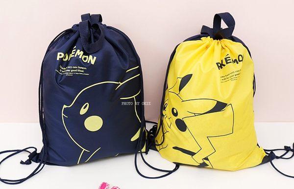 神奇寶貝寶可夢皮卡丘雙肩後背包束口袋防水游泳袋韓國121123