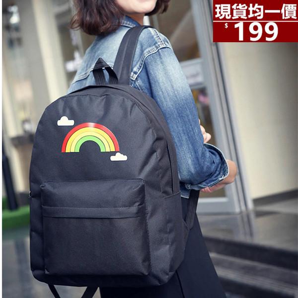 後背包-新款優質防水尼龍彩虹後背包-寶來小舖-6801-現貨販售