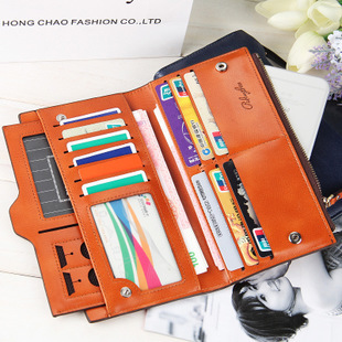 長夾 質感多卡位大容量長皮夾 手機錢包 5色 P836-3【寶來小舖】現貨販售