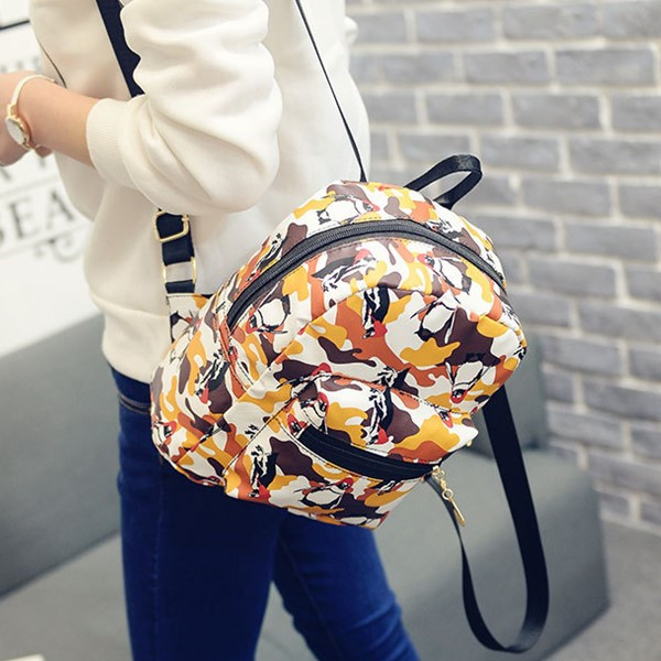 後背包-防水尼龍企鵝塗鴉後背小包包-TD1666-寶來小舖 現貨販售