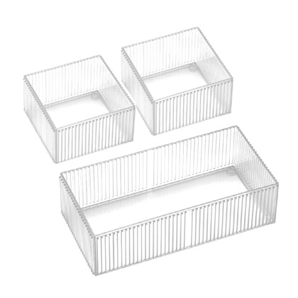 【nicegoods】保養品收納盒(1大2小) (塑膠 小物收納 透明盒 樹德)
