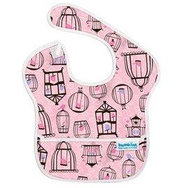 【淘氣寶寶】2016年最新 美國Bumkins防水兒童圍兜(一般無袖款6個月~2歲適用)-粉紅小鳥 【保證公司貨】