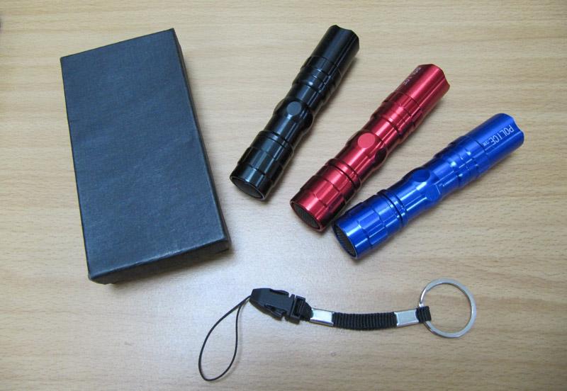 【露營趣】中和 贈D型扣 鋁合金LED手電筒 間諜手電筒 防水手電筒 隨身登山露營工作照明 TNR-073