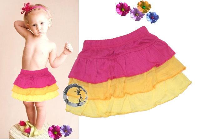 童衣圓【AG061】AG61三色蛋糕裙 LBB 涼夏 短裙 花邊裙 蛋糕裙 A字裙 可愛 百搭款~86.90.95