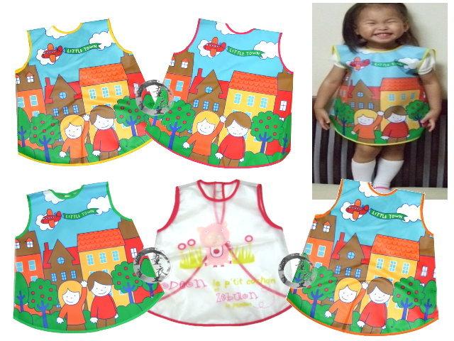 童衣圓【B022】B22中童EVA背心 EVA中童防水背心圍兜~可當畫畫衣 工作服~建議2-4歲