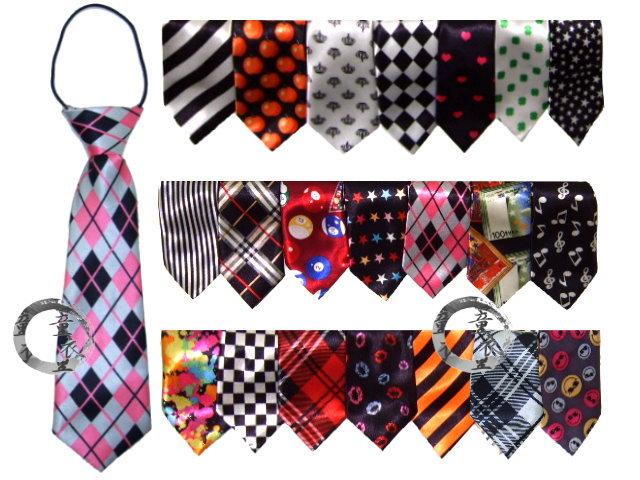 童衣圓【R053】R53小領帶 兒童 短版 簡易 鬆緊帶 領帶 領結 紳士 婚宴 花童 男女適合~可挑款