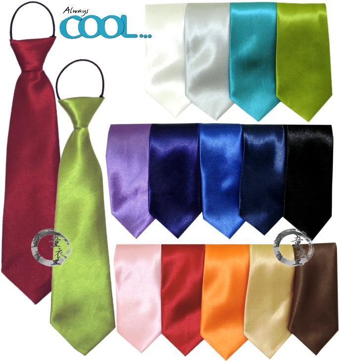 童衣圓 【R078】R78純色小領帶 兒童 短版 緞面 素色 素面 簡易 鬆緊帶 領帶 領結 紳士 婚宴 花童 男女適合