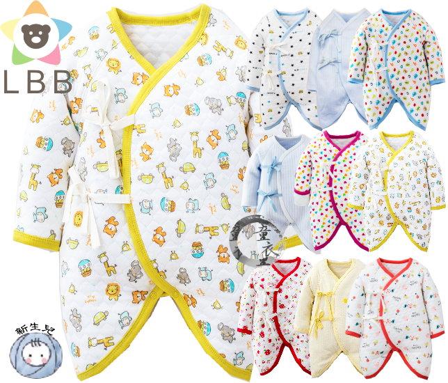 童衣圓【S038】S38空氣綿蝴蝶衣 LBB 新生兒 軟綿 中厚綿 綁帶 偏衫 和尚衣 和服 反摺袖 反折袖 包手 護手 小碼M號、大碼L號