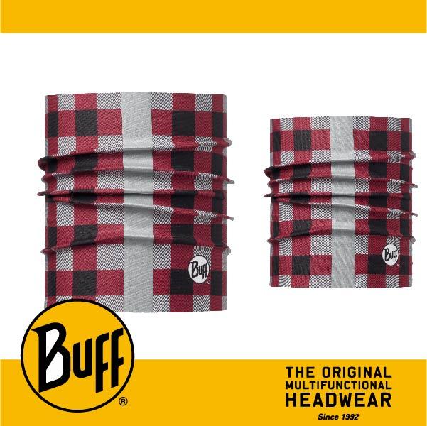 BUFF 西班牙魔術頭巾 寵物頭巾系列 BF113121-425-25 寵物反光頭巾M/L 紳士紅格