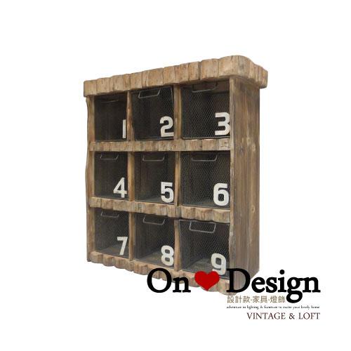 On ♥ Design ❀ LOFT 工業家具 RH風格 朽木 九宮格 收納櫃