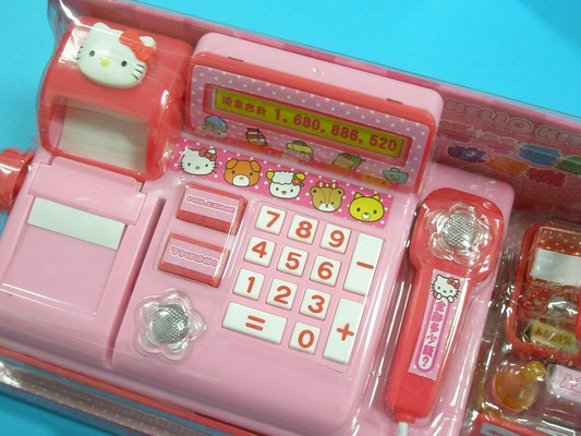 Hello Kitty 凱蒂貓 電動收銀機 KT收銀機(附電池)/一組入{促380}扮家家酒玩具~正版授權