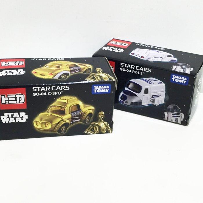 TOMY 玩具車 小汽車 星際大戰 原力覺醒 R2-D2 C-3PO 金屬模型車 玩具 正版日本進口 JustGirl