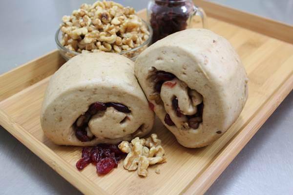 《健康饅頭》雜糧核桃蔓越莓饅頭(蛋素)