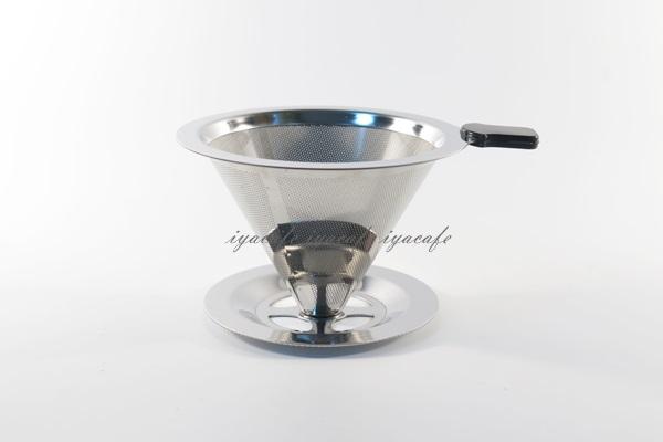 《愛鴨咖啡》V60 V01 錐形 不鏽鋼過濾網 免濾紙濾網 附支撐座 手沖咖啡 美式咖啡