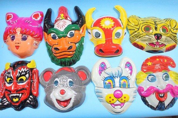 卡通面具 動物造型面具 變裝面具(薄膠面.附鬆緊帶)/一袋12個入{定10}(混款)