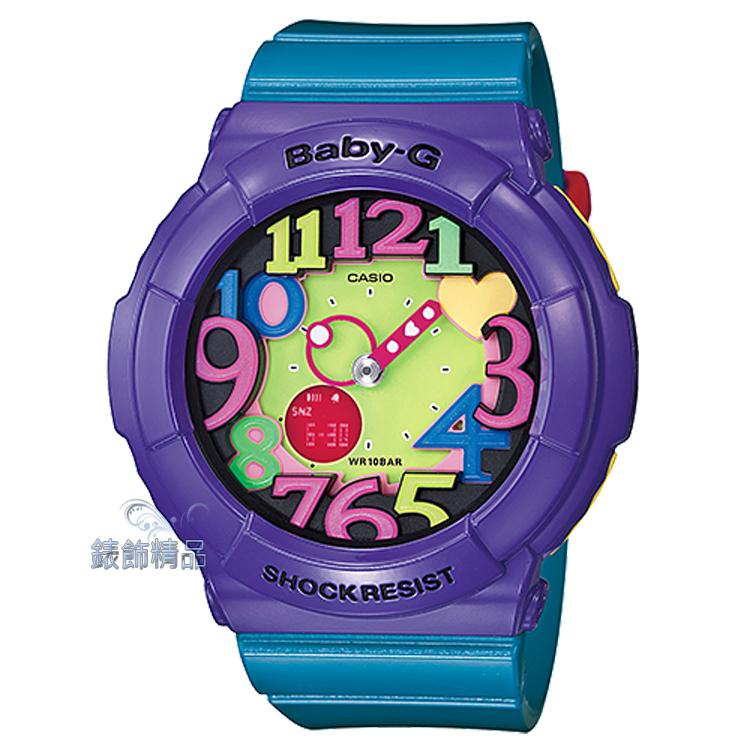 【錶飾精品】現貨BABY-G卡西歐CASIO多彩霓虹立體數字刻度 BGA-131-6BDR藍x紫混搭 BGA-131-6B 全新原廠正品 生日 情人節 禮物 禮品
