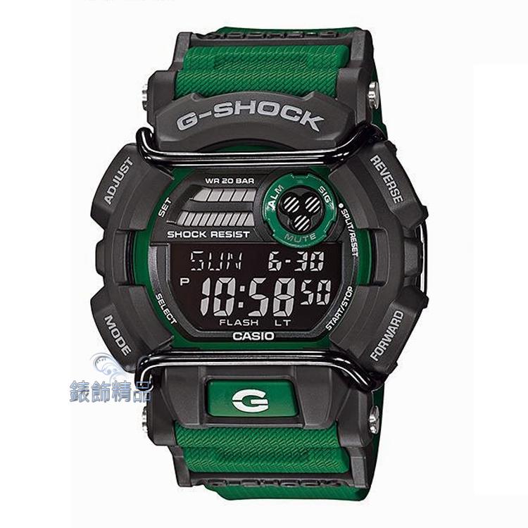 【錶飾精品】現貨CASIO卡西歐G-SHOCK防撞設計 GD-400-3 綠GD-400-3DR生日 情人節禮物