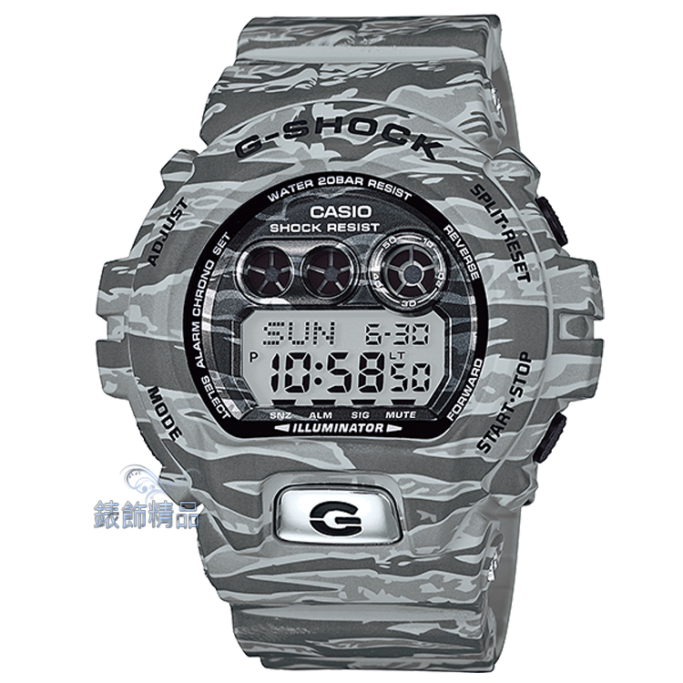 【錶飾精品】現貨G-SHOCK卡西歐CASIO虎紋迷彩灰 GD-X6900TC-8DR 軍事風格 GD-X6900TC-8 大錶徑 全新原廠正品 生日 情人節 禮物 禮品