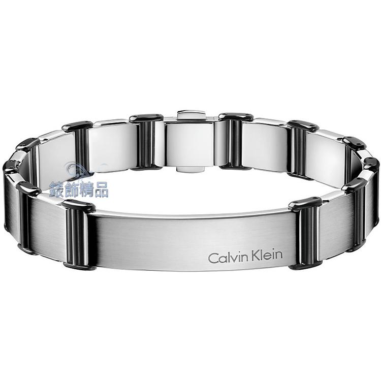 【CK飾品】Calvin Klein ck男性手鍊-invigorate啟示系列 316L白鋼 KJ2FBB280100 霧面銀黑 原廠正品 生日 情人節 禮物 禮品