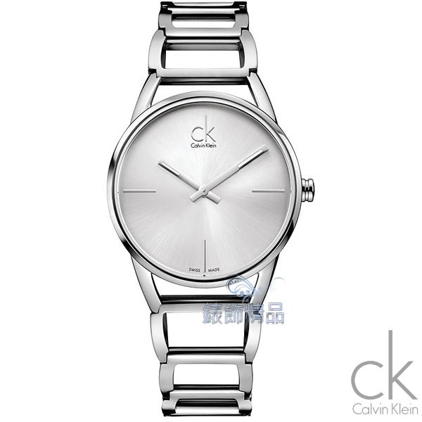 【錶飾精品】CK WATCH/CK錶/CK手錶/Calvin Klein白面 鏤空 鋼帶女表K3G23126全新原廠正品
