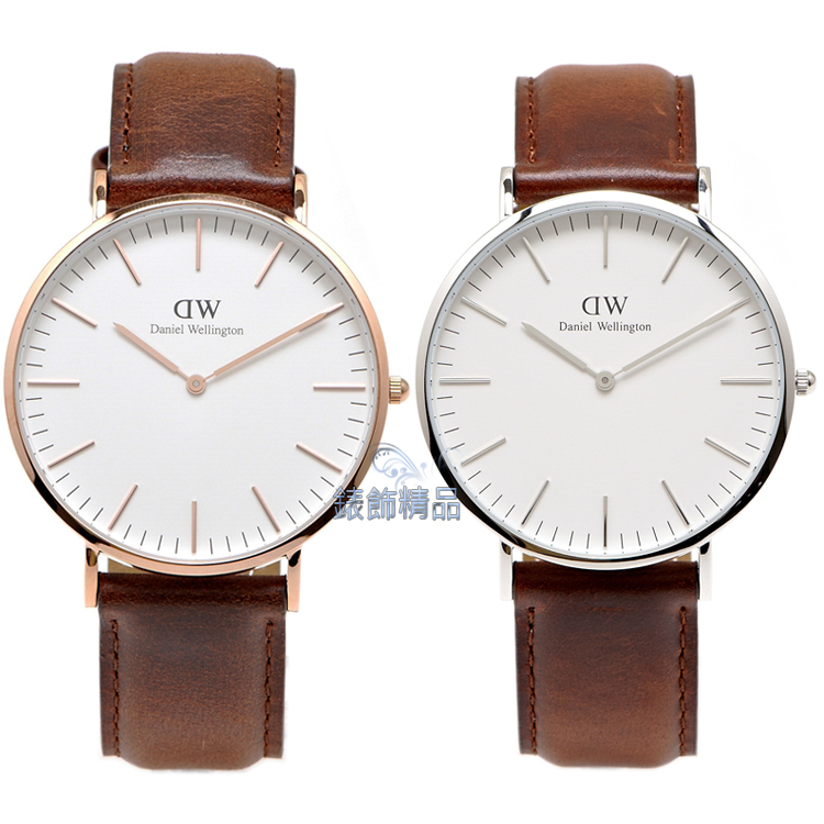 【錶飾精品】現貨 DW 瑞典 Daniel Wellington 手錶 0106DW金 0207DW銀 Classic St Mawes 40mm