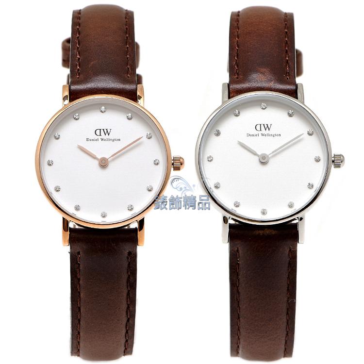 【錶飾精品】現貨 瑞典 DW 手錶 Daniel Wellington 北歐極簡優雅 皮帶 0903DW金 0923DW銀 Classy Bristol 26mm