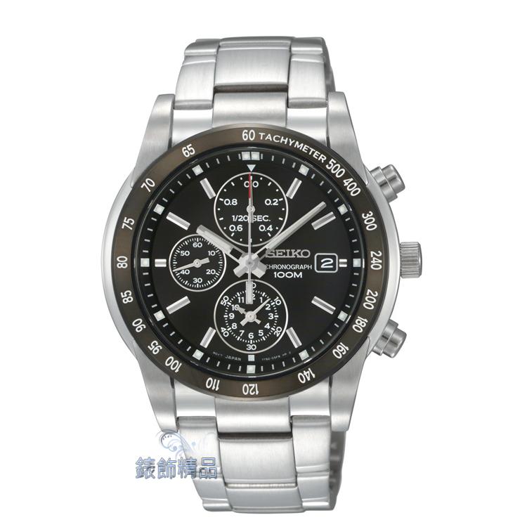 【錶飾精品】SEIKO錶 精工表 計時碼錶 日期 防水 測速錶框 SNDC99男表 SNDC99P1 情人生日禮物